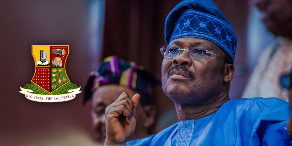 Governor Ajimobi wearing blue native