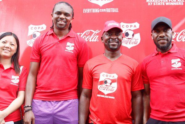 jay jay okocha, Kanu Nnwankwo at copa coca cola 2017